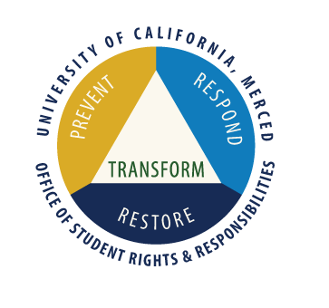 University of California, Merced, Office of Student Rights and Responsibilities. Prevent, Respond, Restore, Transform.