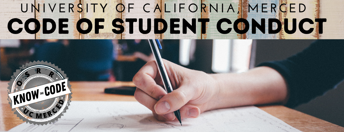 Know the Code of Student Conduct